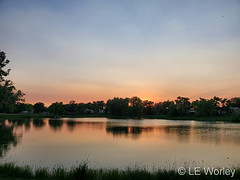 June 8, 2021 - A beautiful subdued sunset in Thornton. (LE Worley)