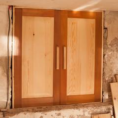 double doors with ash handles