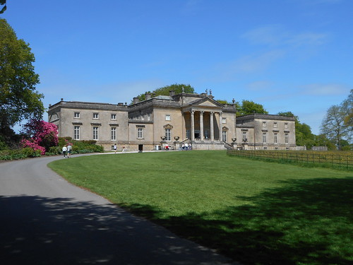 Stourhead, Wilts. The approach to the house.