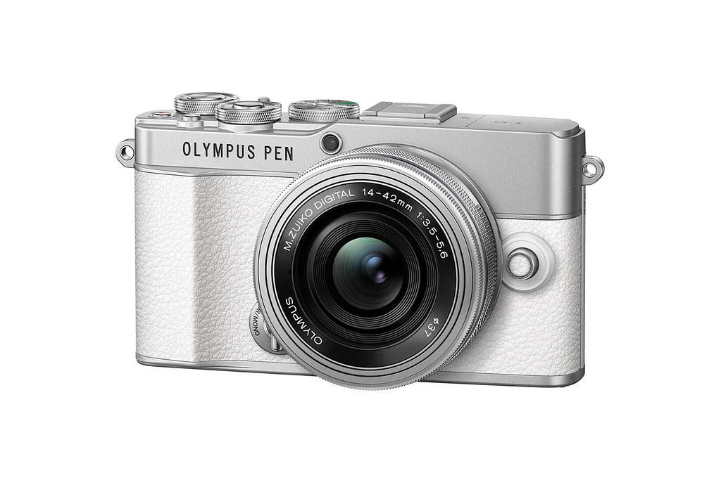 06_Olympus Pen E-P7 搭配ED14-42mm F3.5-5.6 EZ變焦鏡頭組_簡約銀白_側視