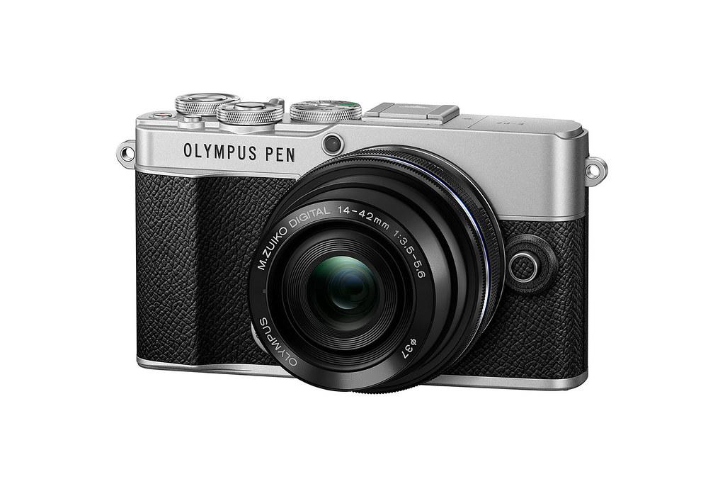 02_Olympus Pen E-P7 搭配ED14-42mm F3.5-5.6 EZ變焦鏡頭組_經典銀黑_側視