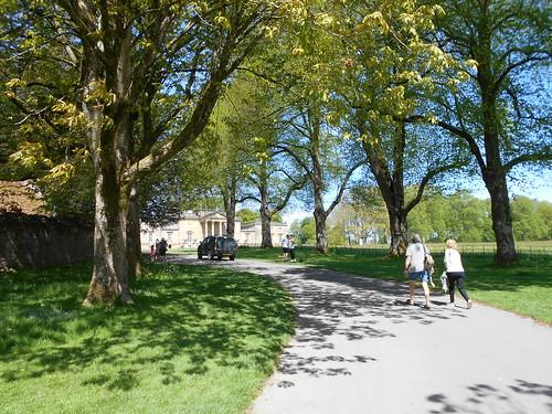 Stourhead, Wilts. The house approach via a shady drive.