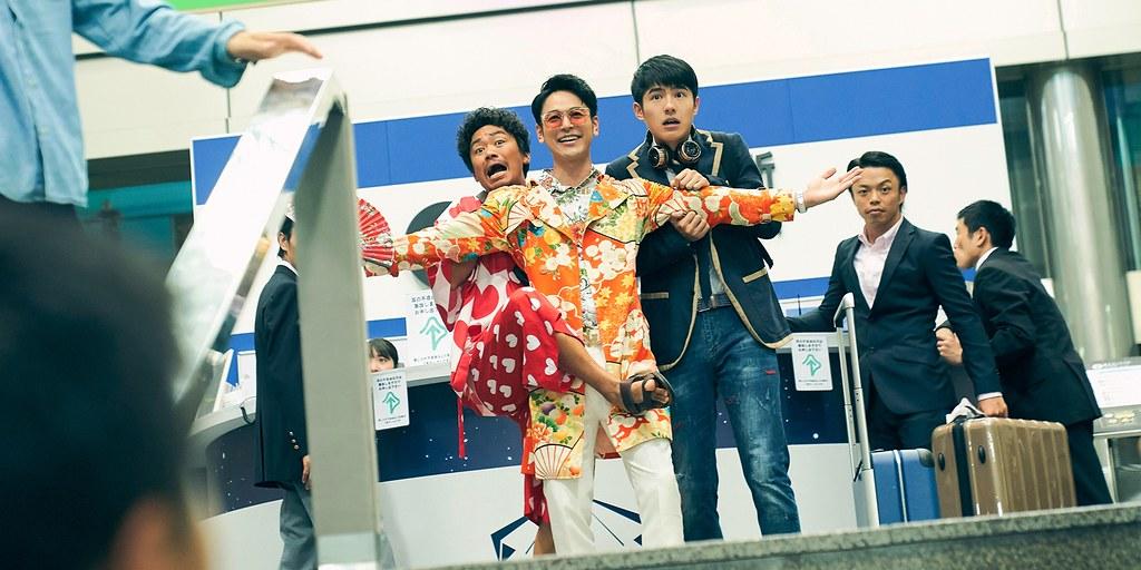 唐人街探案3_左起:王寶強、妻夫木聰、劉昊然前往東京辦案