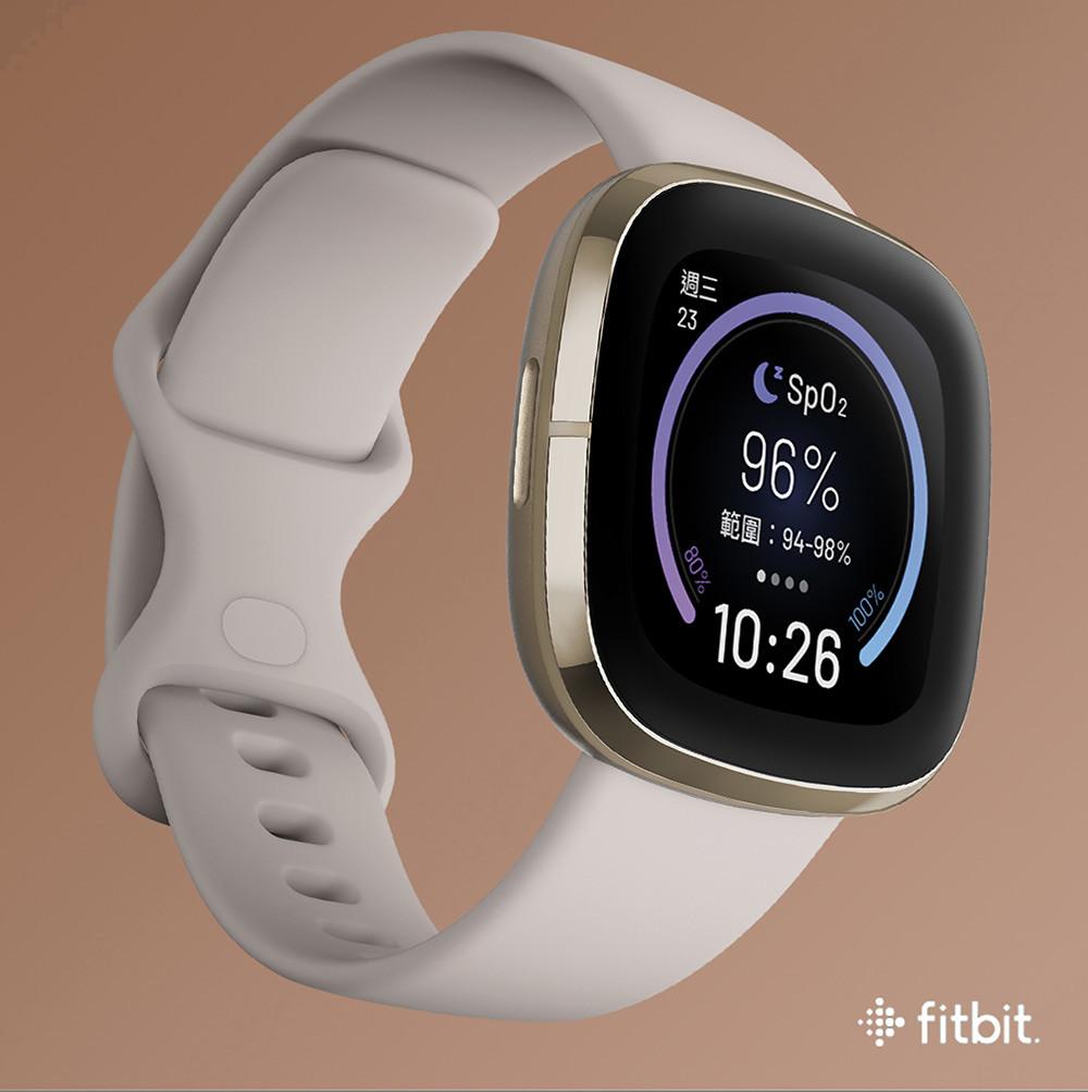 圖一:全新推出的Fitbit-SpO2-Signature-錶面,讓用戶可直接在手錶上檢視個人血氧飽和度