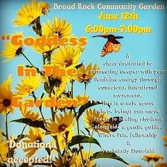 Today !!! Gorgeous Rising Beautiful Souls 🌞 As The Weather Starts Heating Up & The Sun Shines More, The Urge To DANCE Is In The Air! Grab Your Matt Or Blanket & Come Flow With Me Down At @broadrock_communitygarden Saturday June 12th From 6pm
