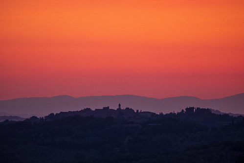Beautiful sunset at Val d'Orcia