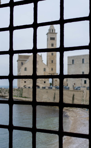 IMGP9125 View of  Trani' Cathedral from the Castle