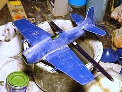 "1:72 Grumman F8F-1B ""Bearcat""; Khmer National Aviation (Aviation Nationale Khmère; AVNK) Intervention Group; Pochentong airbase, Phnom Penh/Cambodia, 1970 (What-if/Monogram kit) - WiP"