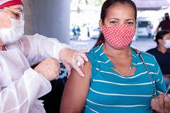 12.06.21 - Prefeitura Municipal em parceria com o Governo do Estado realiza mobilização de vacinação contra a Covid-19