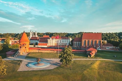 Kaunas old town   Aerial
