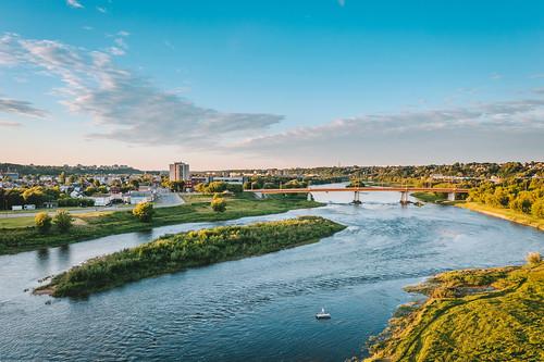 Neris river   Kaunas aerial