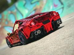 Chrome red Ferrari - art on art -