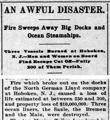 1900 - Saale catches fire - Bremen Enquirer - 6 Jul 1900
