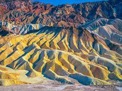 Death Valley National Park Zabriskie Point Vibrant Colors Summer Fuji GFX100 Fine Art Landscape Nature Photography California! Dr. Elliot McGucken Master Medium Format Photographer!  Fujifilm GFX 100 &  FUJIFILM GF 45-100mm f/4 R LM OIS WR Lens DVNP