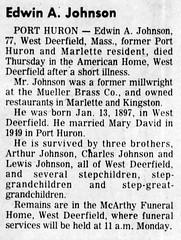 1974 - Edwin A Johnson obit - Times Herald - 10 Aug 1974