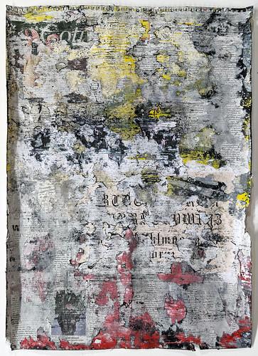Zavier Ellis 'Freiheit IX', 2021 Acrylic, emulsion, spray paint, collage on paper 59.4x42cm