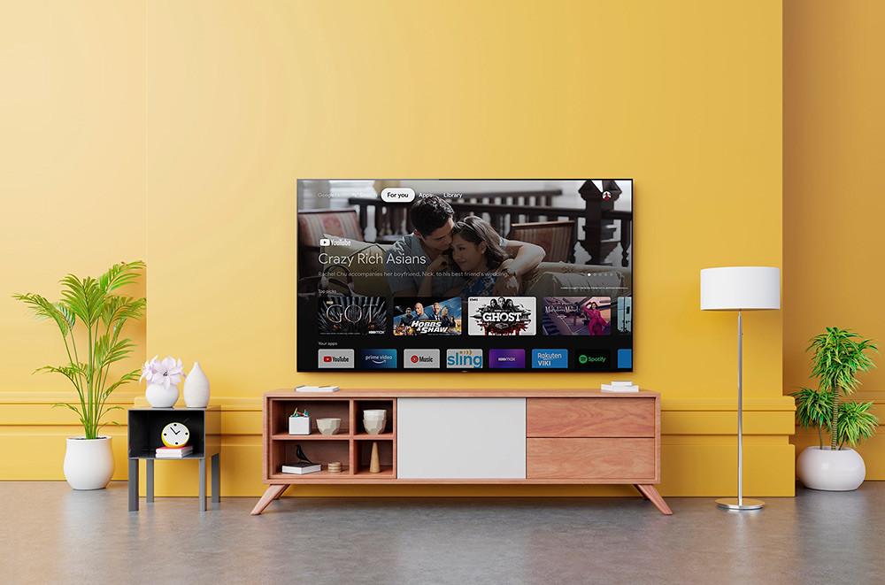 圖7)-Sony-BRAVIA-XR系列支援最新Goolge-TV,全新介面更貼近使用者觀看習慣;擁有目前智慧電視系統中最豐富的應用程式資源,支援中文語音搜尋,只要開口就能快速查找喜愛的影音內容。