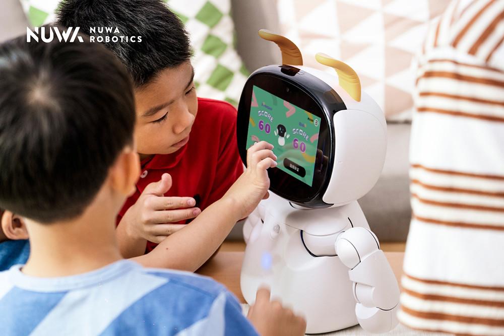 圖說二:「Kebbi-Air-S」陪伴型機器人整體性能提升20%,滿足孩童多元學習需求。