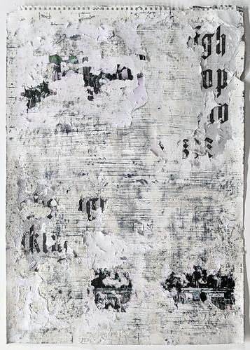 Zavier Ellis 'Freiheit XXI', 2021 Acrylic, emulsion, spray paint, collage on paper 59.4x42cm