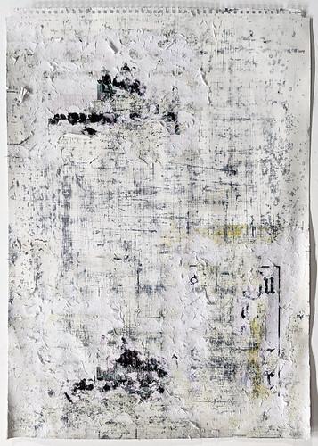 Zavier Ellis 'Freiheit XX', 2021 Acrylic, emulsion, spray paint, collage on paper 59.4x42cm