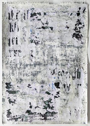 Zavier Ellis 'Freiheit XVII', 2021 Acrylic, emulsion, spray paint, collage on paper 59.4x42cm