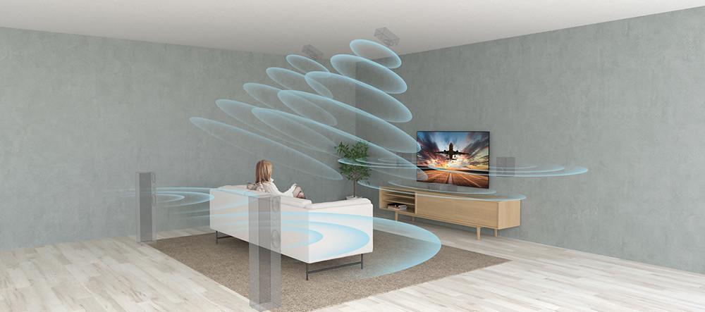 10.XR-Surround技術不僅能從左右兩側、還可從垂直方向模擬環繞音效,升級5.1.2聲道享受3D-環繞臨場聽感!