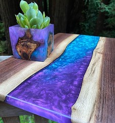 Table From Cement And Epoxy Resin   Woodworking - Arts & Crafts