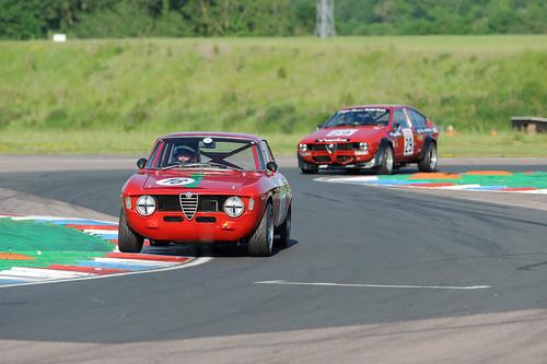 James Colburn's quick Sprint Gt leads Snowdon's Alfetta