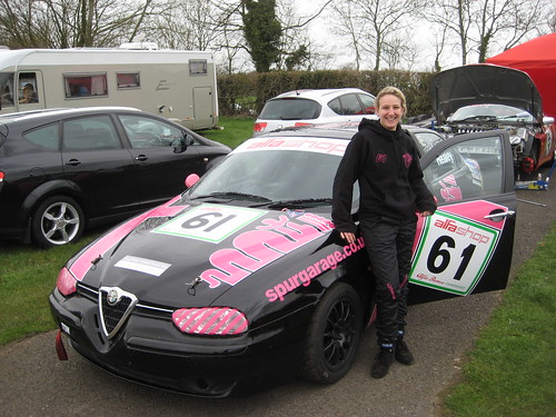 Mel Healey and her very smart 156 at C.Combe 2010