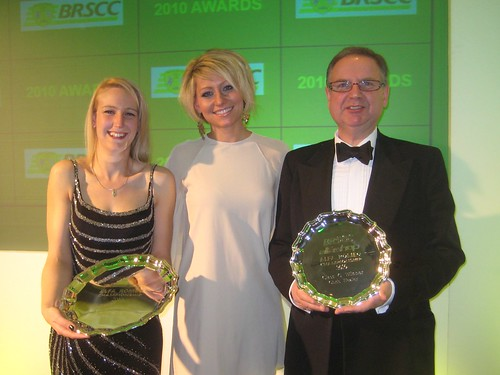 Champion Mel and near champion Chris with their silverware at BRSCC dinner