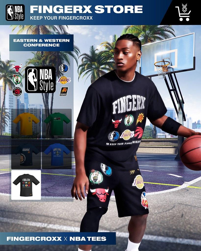 「NBA X fingercroxx全新聯乘系列」傳承NBA聯盟球隊文化、匯聚年代籃球運動時尚。