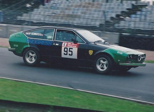 Minette Rice-Edwards with Alfetta GTV