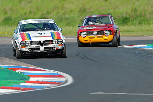 Jonny Horsfield with David Alexander at the chicane. Photo Michael Ward