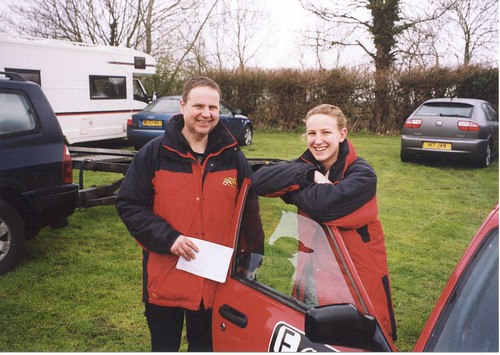 Chris and Mel at Castle Combe 2004