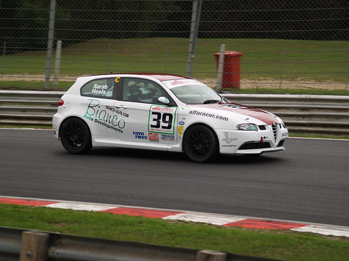 Sarah Heels with 147 GTA at Brands Hatch in 2010