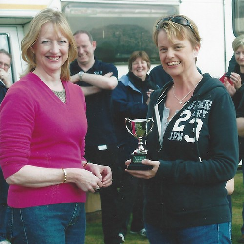 A happy winner - Sarah with Jane Anderson