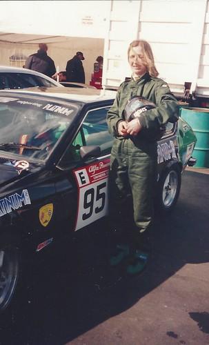 Minette with Alfetta GTV in 1997