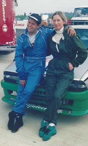 Minette and Enzo Buscaglia at Croix en Ternois 1999