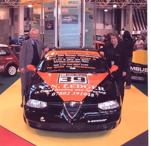 Sarah Heels and Michael Lindsaylaunch Class G at 2006 Autosport Show
