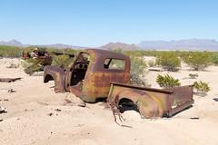 Junked vehickle near Terlingua Texas