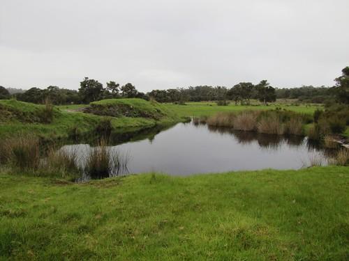 Overflowing Farm Dam - Record Winter Rains 2021 Causing Waterlogging and Flooding at Red Moon Sanctuary, Redmond, Western Australia