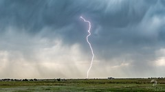 June 19, 2021 - A stunning bolt on the plains of Colorado. (Jessica Fey)