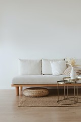 Minimalist Light Wood Sofa
