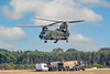 Chinook helicopters at Royal Air Force Woodvale Formby