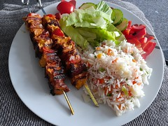 Photo of home made chicken kebab