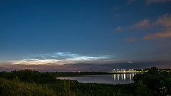 Noctilucent clouds above Lelystad