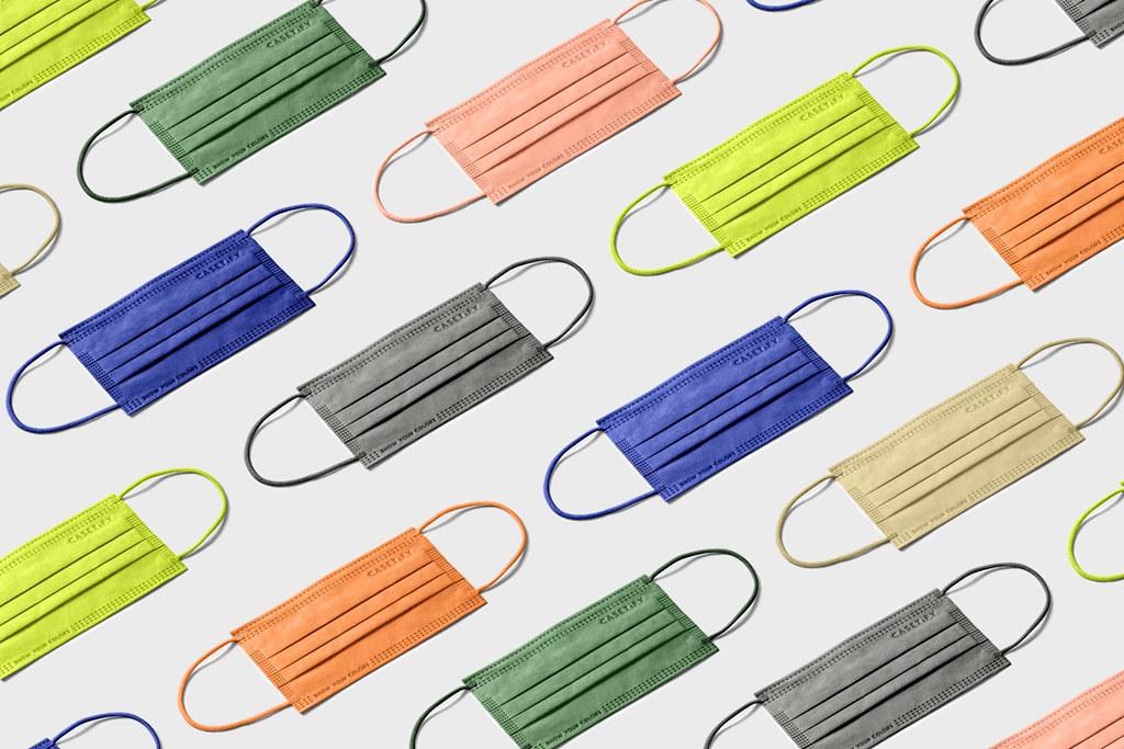 05. CASETiFY「三層一次性防護口罩」共有 7 種顏色,可依照穿搭風格隨心搭配