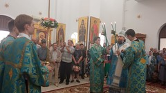 Архиерейское богослужение в престольный день в монастыре