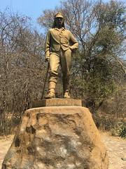 Livingstone Statue at Vic Falls