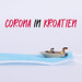 Boat on a surgical face mask with Corona in Kroatien text